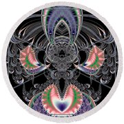 Grand Stage Entrance Fractal Round Beach Towel