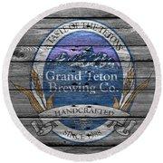 Grand Teton Brewing Round Beach Towel