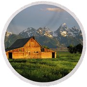Grand Teton National Park , Wyhomestead Round Beach Towel