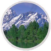 Grand Tetons National Park Wy Round Beach Towel
