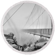 Mile High Bridge #1 Round Beach Towel
