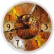 Grandfather Time Hdr Round Beach Towel