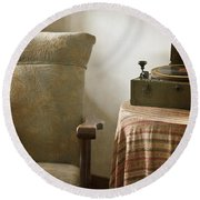 Grandma's Chair Round Beach Towel by Margie Hurwich