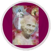 Grandmother Round Beach Towel