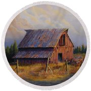 Grandpas Truck Round Beach Towel by Jerry McElroy