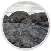 Granite Mountain Boulders Round Beach Towel