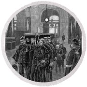 Grant Funeral, 1885 Round Beach Towel