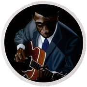 Grant Green Round Beach Towel