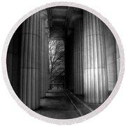 Grant's Tomb Columns Round Beach Towel