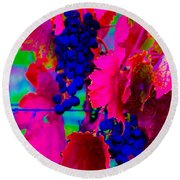 Grape Acid Round Beach Towel