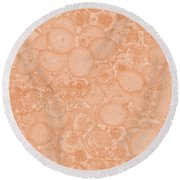 Grape Cell Abstract Round Beach Towel