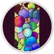 Grape De Chine Round Beach Towel