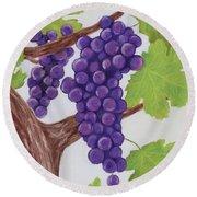 Grape Vine Round Beach Towel