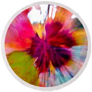 Grape Vine Burst Round Beach Towel
