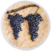 Grape Vine Round Beach Towel