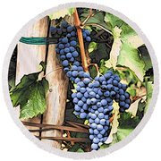 Grapes 1 Round Beach Towel