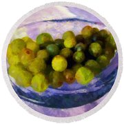 Grapes On The Half Shell Round Beach Towel