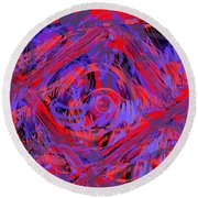 Graphic Explosion Round Beach Towel