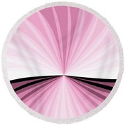 Graphic Pink And White Round Beach Towel