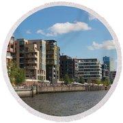 Grasbrookhafen Hamburg Hafencity Round Beach Towel