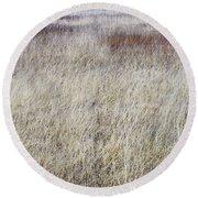 Grass Abstract Round Beach Towel