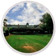 Grass Courts At The Hall Of Fame Round Beach Towel