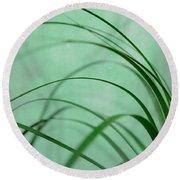 Grass Impression Round Beach Towel