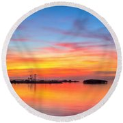 Grass Islands Of The Gulf Round Beach Towel