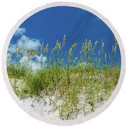 Grass On The Beach, Bill Baggs Cape Round Beach Towel