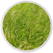 Grasses  Round Beach Towel