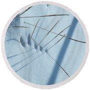Grassholes Round Beach Towel