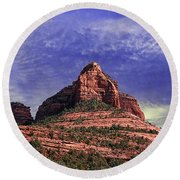 Grasshopper Point Sedona  Round Beach Towel