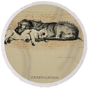 Gratification, 1930, 1st Edition Round Beach Towel