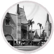 Grauman's Chinese Theater Round Beach Towel by Underwood Archives