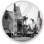 Grauman's Chinese Theater Round Beach Towel