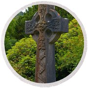 Grave Cross 4 Round Beach Towel