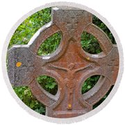 Grave Cross 5 Round Beach Towel