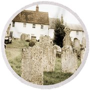 Grave Yard Round Beach Towel