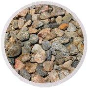 Gravel Stones Round Beach Towel