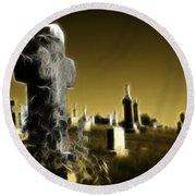 Graveyard 4730 Round Beach Towel