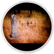 Graveyard 6792 Round Beach Towel