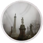 Graveyard Morning Round Beach Towel