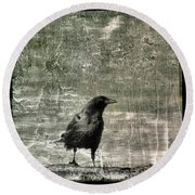 Abstract Gray Round Beach Towel
