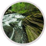 Waterfall - Grayville Everlasting Round Beach Towel
