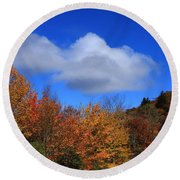 Great Balsam Mountains In The Fall Round Beach Towel