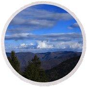 Great Balsam Mountains-north Carolina Round Beach Towel