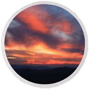Great Balsam Mountains Sunset-blue Ridge Parkway Round Beach Towel