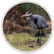Great Blue On The Clinch River IIi Round Beach Towel