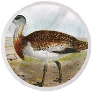 Great Bustard Round Beach Towel