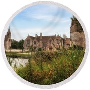 Great Chalfield Manor Round Beach Towel